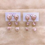 Baby pink heart bijou pierce