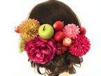 萌え*大人可愛い和風ゴスロリ少女*豪華フルーツの花かんざしセット