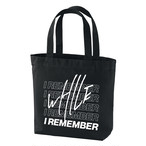 WHILE I REMEMBER Logo Tote Bag - BLACK