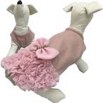 PUPPYANGEL 大きなリボンのワンピース (ピンク)