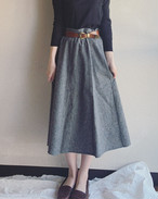 【SALE】vintage marble design skirt
