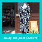 2way ハワイアン 前あきワンピース (2色)