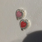 VINTAGE HEART CHARMのsnap RING body jewelry チャーム単体 SILVER925 #LJP ヴィンテージハートリングボディピアス・チャーム単体/シルバー925