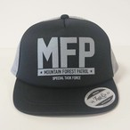 Short Visor Trucker Mesh Cap / MFP / Black / Gray / Gray