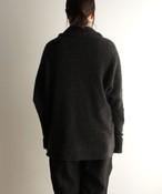 【限定】手編み機で編んだカシミヤセーブル糸の襟付きカーディガン CAA-414M