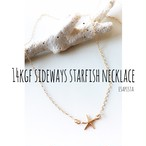 14kgf sideways starfish necklace