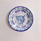 マヨリカ焼き 丸皿(小) エビとサンゴ