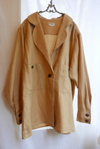 CHANEL Camel Linen Jacket