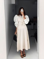 ベルトキャミワンピース ワンピース 韓国ファッション