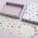 貼り箱入りミニレターセット〜紫陽花とパ・ド・カトル