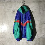 [used] multifaceted colour nylon jacket