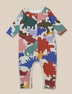BOBO CHOSES ボボショセス Dinos All Over Fleece Overall size:6-12M(70-80)