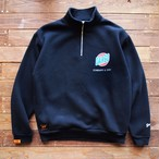 "【DARGO】 ""Trade Mark"" Half Zip Wide Type Sweat (BLACK)"