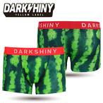 【DARK SHINY】WATERMELON・スイカ / YLMM55 メンズ ボクサーパンツ