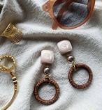 pink beige × champagne pink × brown ring  《再販なし》
