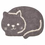 【CHATTE・シャット】猫ミニマット(ブラック)【猫雑貨 インテリア】