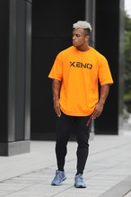 XENO OVERSIZED LOGO T-shirt Orange Black