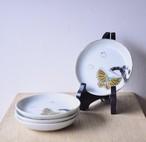 【 桜×蝶 - 絵付け小皿 - 】antique / 明治 / 大正/ japan