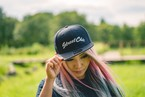 【送料無料】Flat Visor Cap [Black]  Leaves - StreetChic