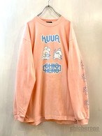 【CHIC HERO】x 空亜コラボ20 LONG-SLEEVE T/S LIGHT PINK