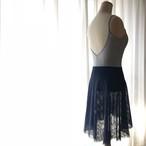 ◆Minimalist Ballet Skirt: NAVY (ミニマリスト・プルオンバレエスカート(ネイビー))