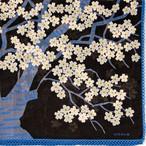 桜の森の満開の下/ チャコール【ひびのこづえ】 ハンカチ