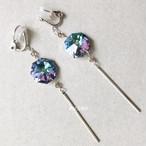 晴れの宝石と銀の匙のイヤリング
