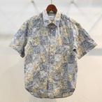 KUON(クオン) インド綿フラワーパッチワーク 半袖シャツ