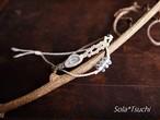 アーカンソー産ミニポイント水晶のマクラメ編み細身二重ブレスレット
