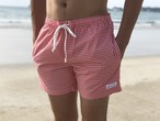 ThreeArrows Board Shorts(red×white)