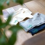 ふんわりフライス編みオーガニックコットン フィンガーレスグローブ 手袋 *プラネード