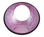 日月かまくら盛器(小)ピンクアクアGC塗