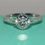 モアサナイト ダイヤモンド 0.6カラット 18k オーダーリング 婚約指輪