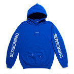 SEASONING COLOR HOODIE  - BLUE