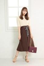 【お取り寄せ商品】レオパードリボンスカート 7010