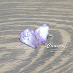 中津川の紫水晶ピアス
