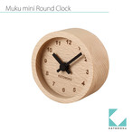 KATOMOKU muku mini round clock km-26黒