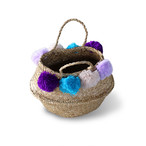 Seaglass Basket [ Wool Pom Pom]Φ270