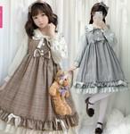 9939ロリータ衣装 ロリータ服 可愛い 少女風 Lolita ワンピース 長袖