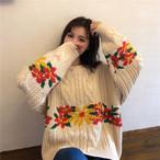 ケーブル編み ざっくりニット セーター【1004】