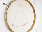【SALE対象】コットンパール3サイズ一連ネックレス