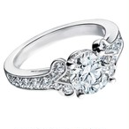 モアサナイト 1.5カラット ダイヤモンド 18k リング バレリーナ