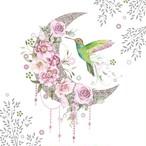 1月下旬入荷|2020春夏【Paperproducts Design】バラ売り2枚 ランチサイズ ペーパーナプキン Hummingbird Moon ホワイト