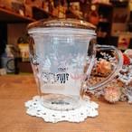 茶こし付きガラスのハーブティーカップ ミイ