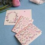 洋書みたいなメッセージカード(8枚入り)*秘密の庭のパンジー