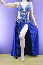 エジプト製 ベリーダンス衣装 ターキッシュスタイル ブルー