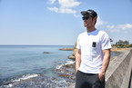 The Baseball Surfer ポケット付きTシャツ【ホワイト】
