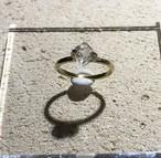 ハーキマーダイヤモンドの真鍮ピンキーリング