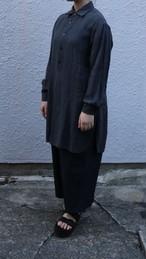 YAECA/ヤエカ ボタンシャツ・プルオーバー・ロング リネン CHARCOAL #99104