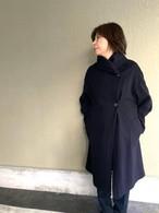 【ソフトバンクホークス日本一おめでとう!送料無料キャンペーン11/26-11/30】大人のぬけ感を作るオーバーサイズコート  ネイビー